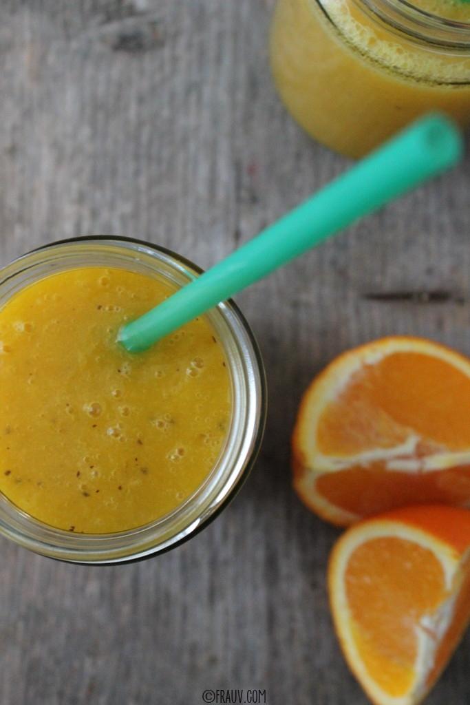 Kiwi-Mango-Orangensaft